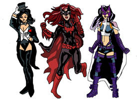 Zantana, Batwoman and Huntress