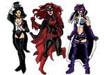 Zantana, Batwoman and Huntress by LavenderRanger