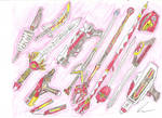 Red Ranger Weapons 1