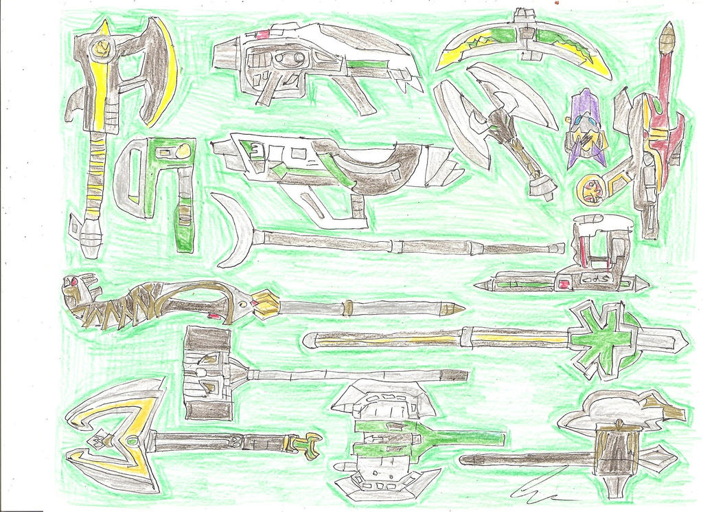 Super Megaforce Green's Weapons by LavenderRanger on ...