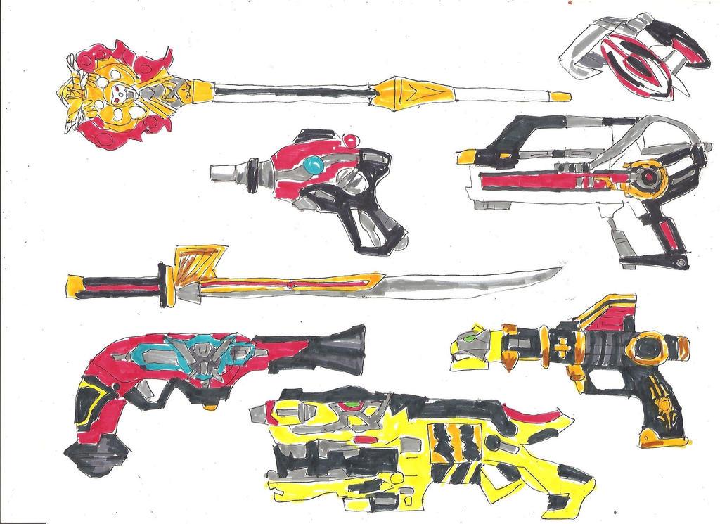 Power Rangers Sidearms 2 by LavenderRanger