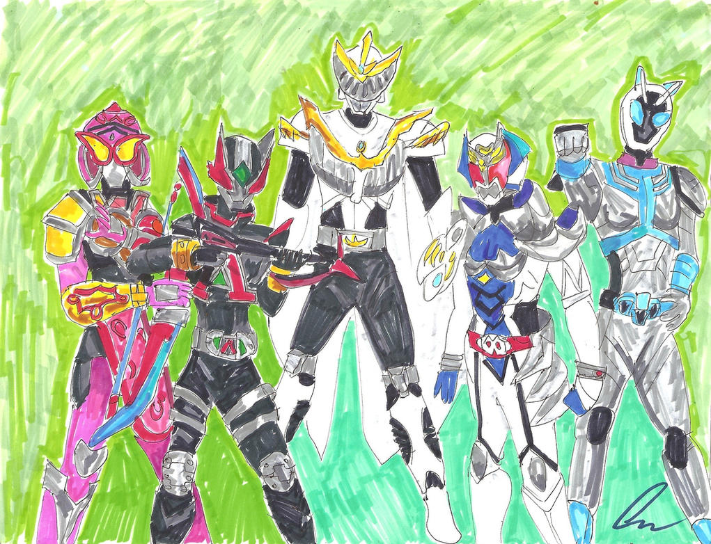 Kamen Rider Girls by LavenderRanger