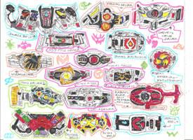 Kamen Rider Belts - Heisei Era