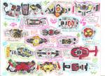 Kamen Rider Belts - Heisei Era by LavenderRanger