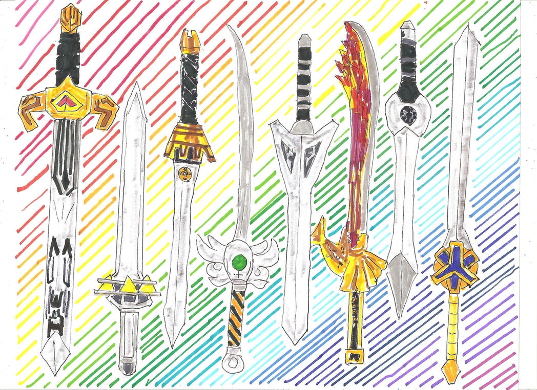 Megazord Weapons 1 of 3 by LavenderRanger