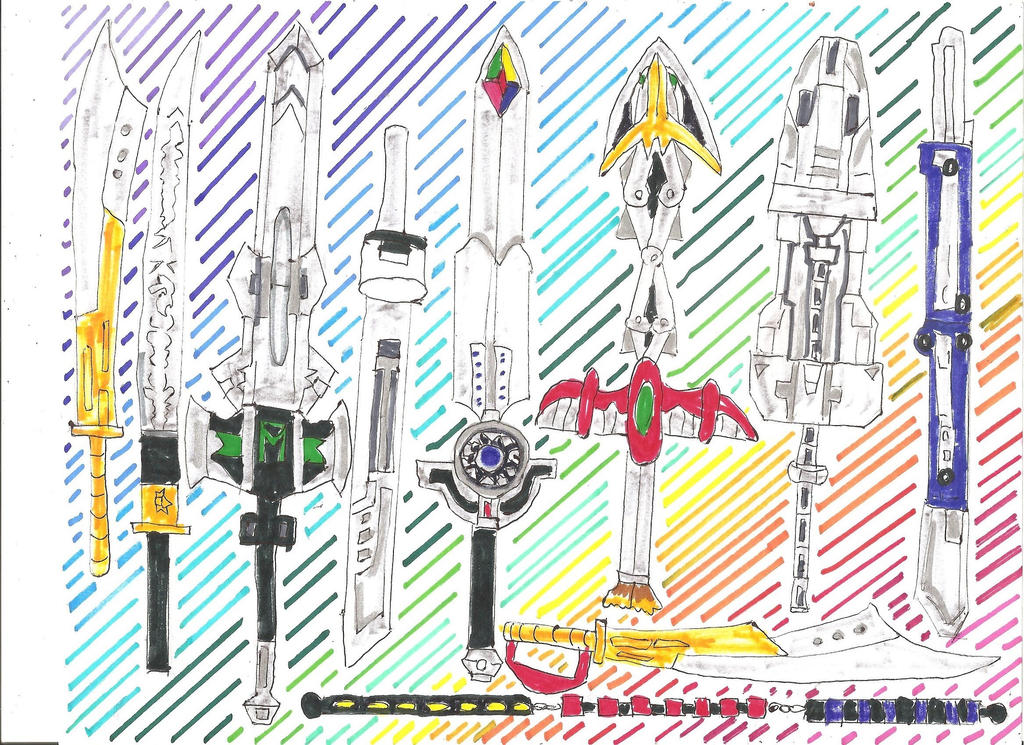 Megazord Weapons 2 of 3 by LavenderRanger