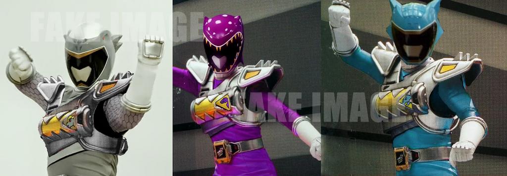 My fake Dino Drive Rangers by LavenderRanger