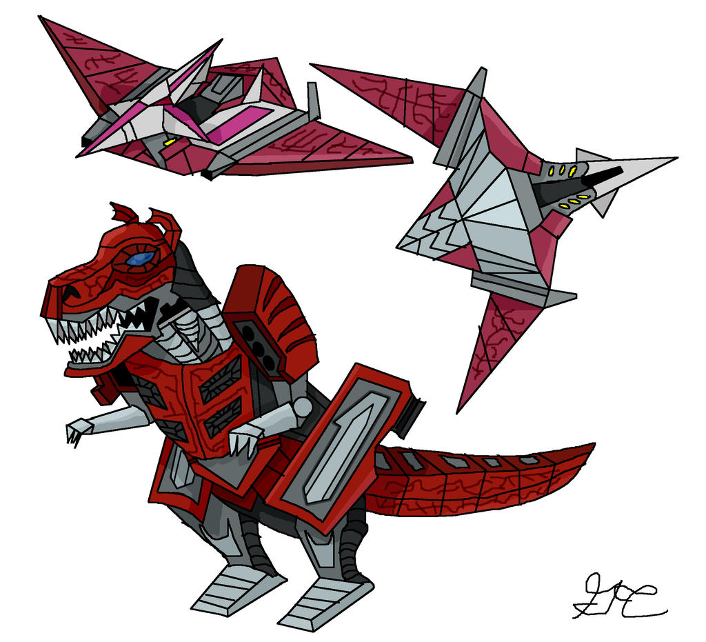 My Movie Concepts: T-Rex And Pterdactyl Zords By