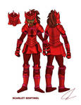 Rainbow Warriors - Scarlet Sentinel by LavenderRanger