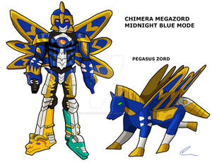 Mystech - Chimera Megazord Midnight Blue Mode