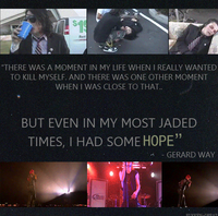 Gerard Way~ hope by rosiewright