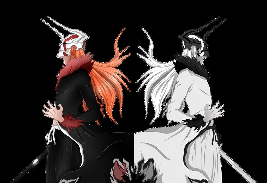 Shirosaki e Kurosaki Vasto Lorde Colored by lordbalda on DeviantArt