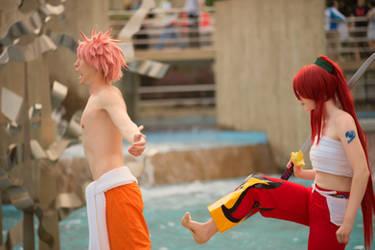 Swim Trunks Natsu and Erza (Otakon 2014) by OORR