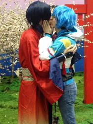 Koujaku and Aoba kiss AX 2015 by OORR