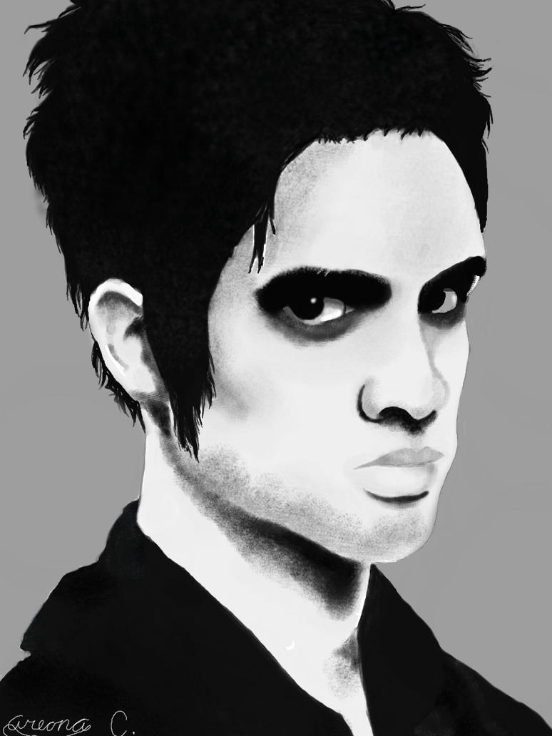 B/W Brendon Urie by Pixelated-Sky