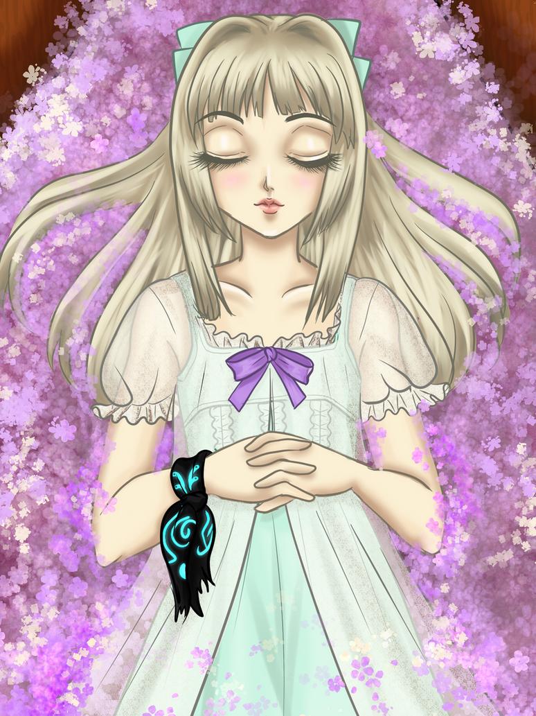 Luna in her coffin