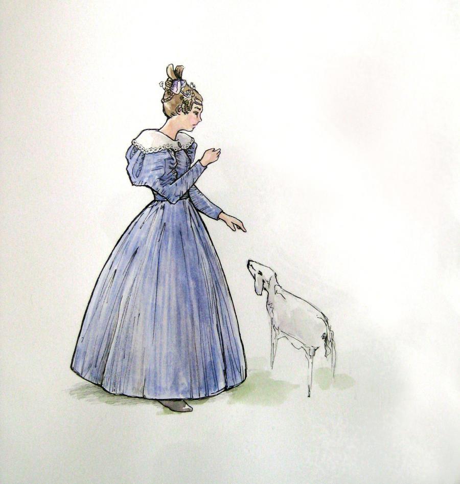 1830 Day Dress- design by lachwen