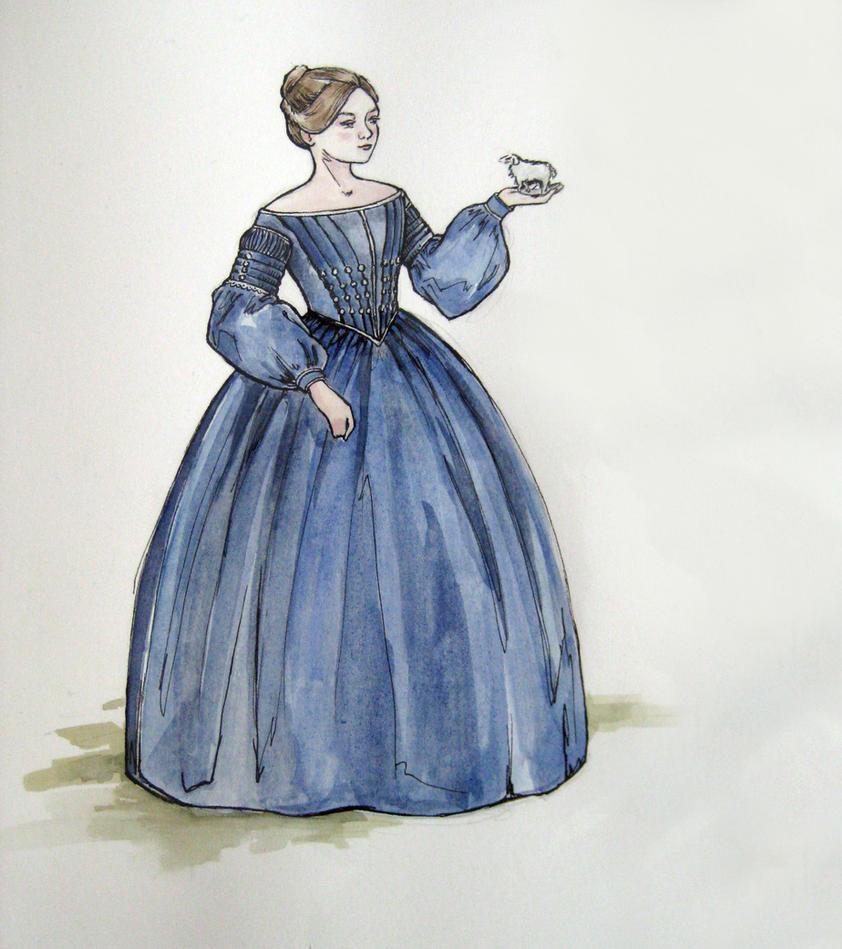 1840 Day Dress- design by lachwen