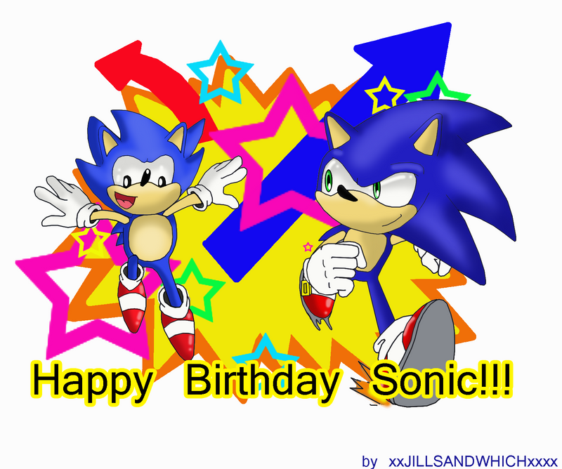Happy 20th Sonic by xRubiMalonex on DeviantArt