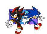 Sonic and shadow stamp by xRubiMalonex