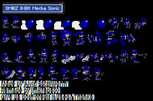 8-Bit Mecha Sonic by jmkrebs30