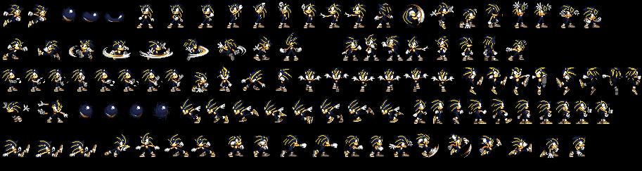 Volt Sonic Sprite Sheet (Exorz Ver.) by jmkrebs30