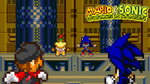 Mario and Sonic vs Bowser Jr and Metal Sonic