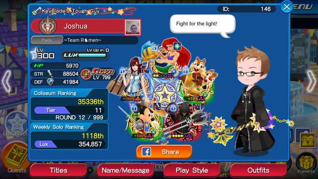 Kingdom Hearts Union X [Cross] - My Avatar