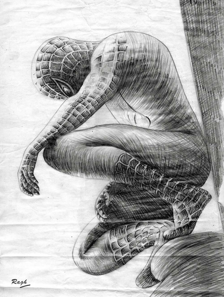 Spiderman Drawing By Raghartist On DeviantArt