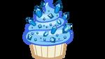 Sapphire cupcake vector