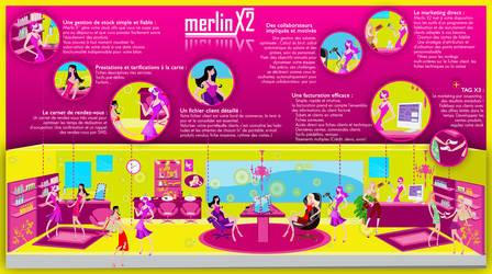Merlin X2 advertising by mokona73