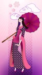 Japanese Girl bloom by mokona73