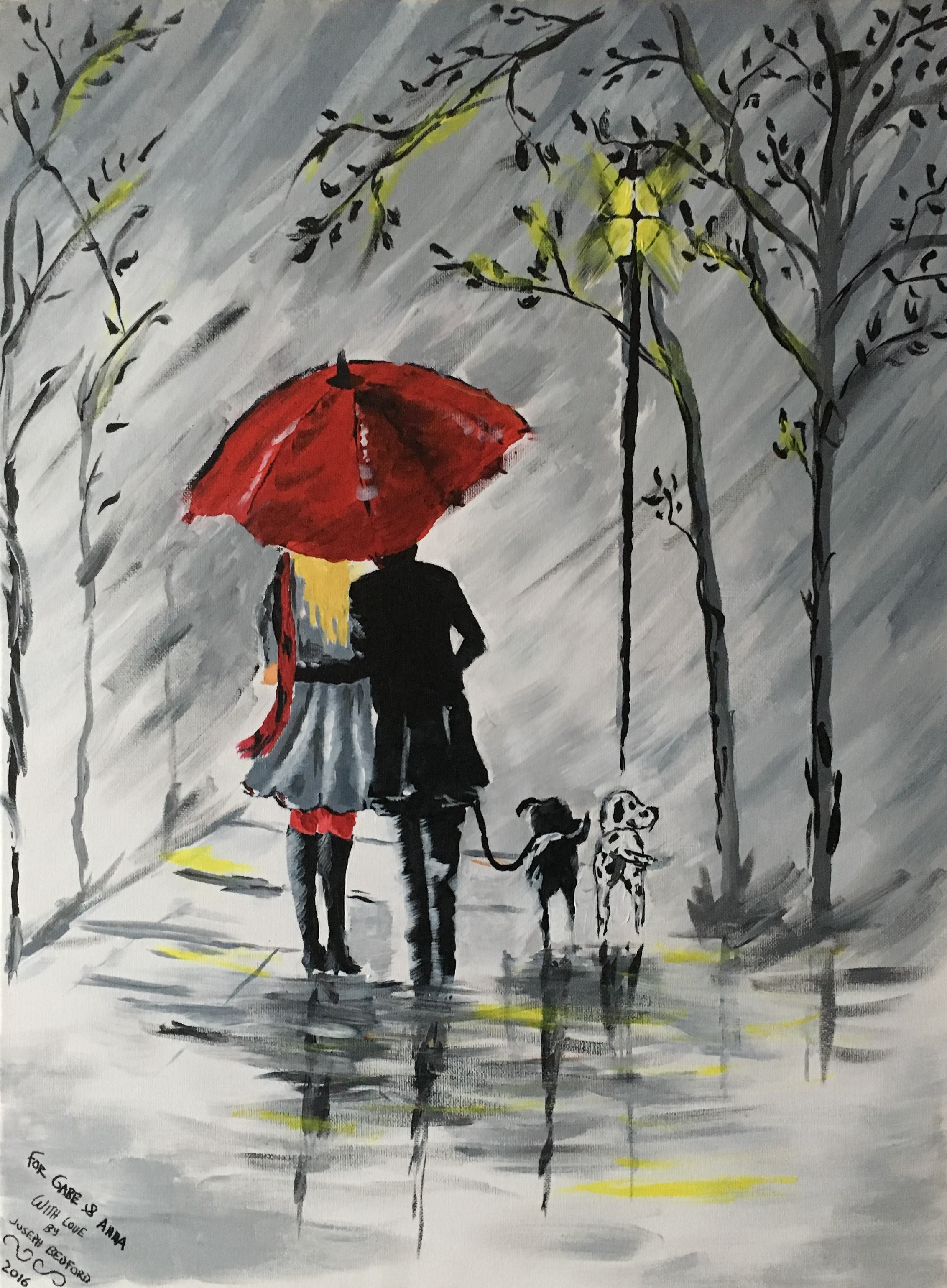 Red umbrella by josephbedfordart on deviantart for Painting red umbrella