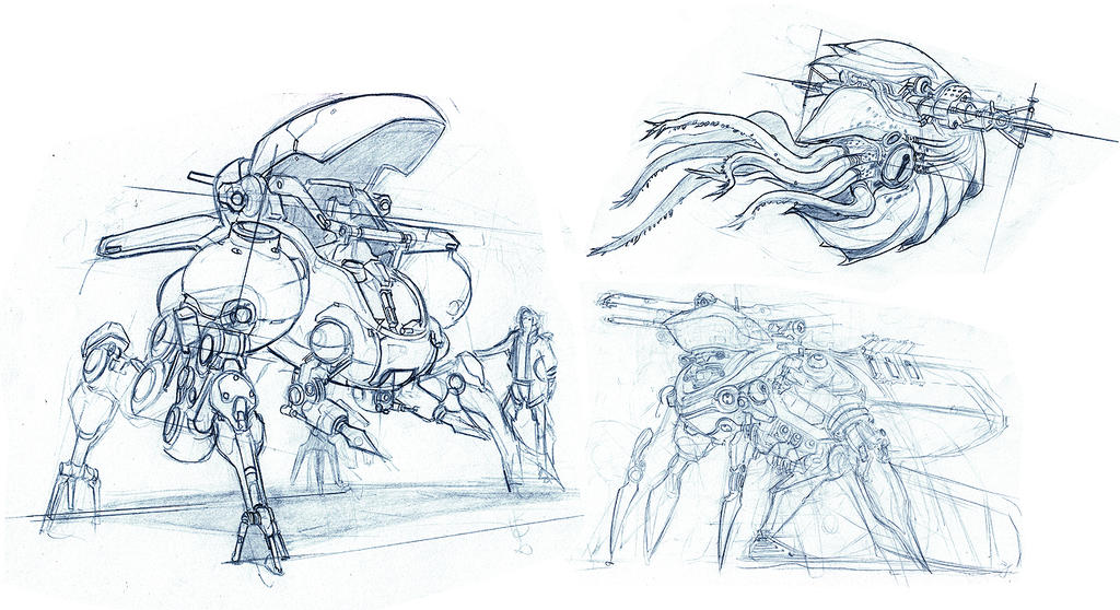 Misc Mech. sketches by dee-virus