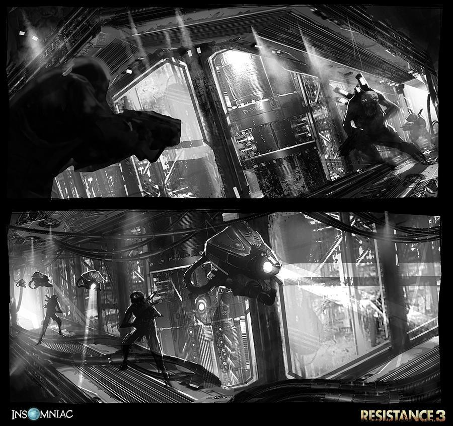 Resistance 3 - Terraformer Environments by dee-virus