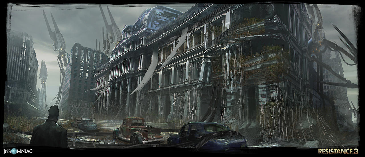 Resistance 3 - City Ruins by dee-virus