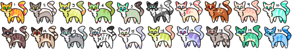20 POINT ADOPTS! OPEN! by Gleddie-Adopts