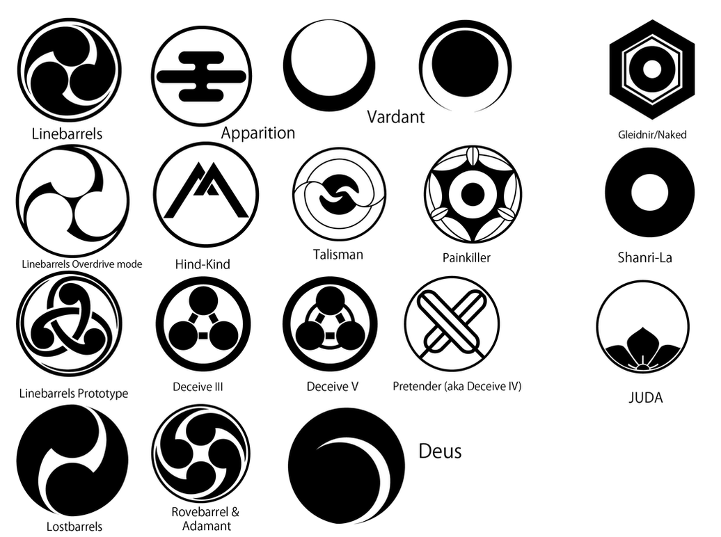 Kurogane no Linebarrel emblems by ValkyrieIzaak