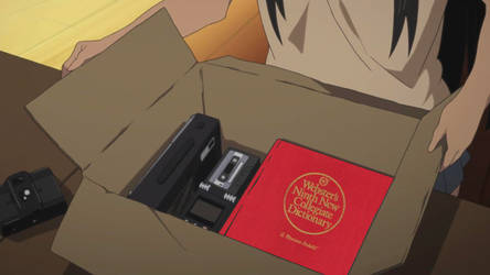 Mio finds a copy of Webster's Dictionary