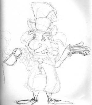 Mad hatter sketch