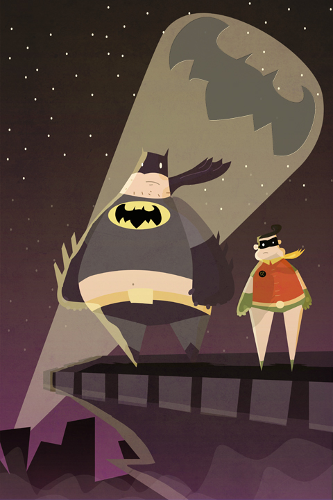 Batman And Robin Fat by schults