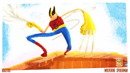 wolverine/spiderman by schults
