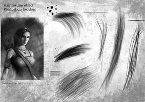 Hair texture effect Photoshop brushes