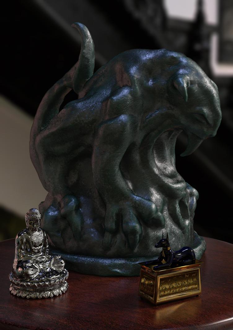 Gargoyle Statue by ItiseyeMeeSzark