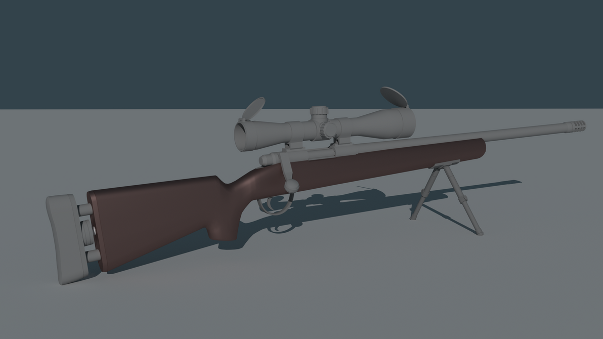 Blender 3D - Sniper Rifle |Raw| by Tesseract95