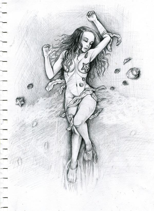 Little Mermaid - Sketch by waterpieces