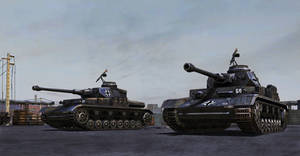 Panzer IVs on point