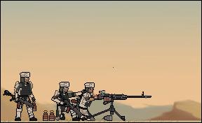 El B'anna militia deploys a heavy machinegun by Another-Eurasian
