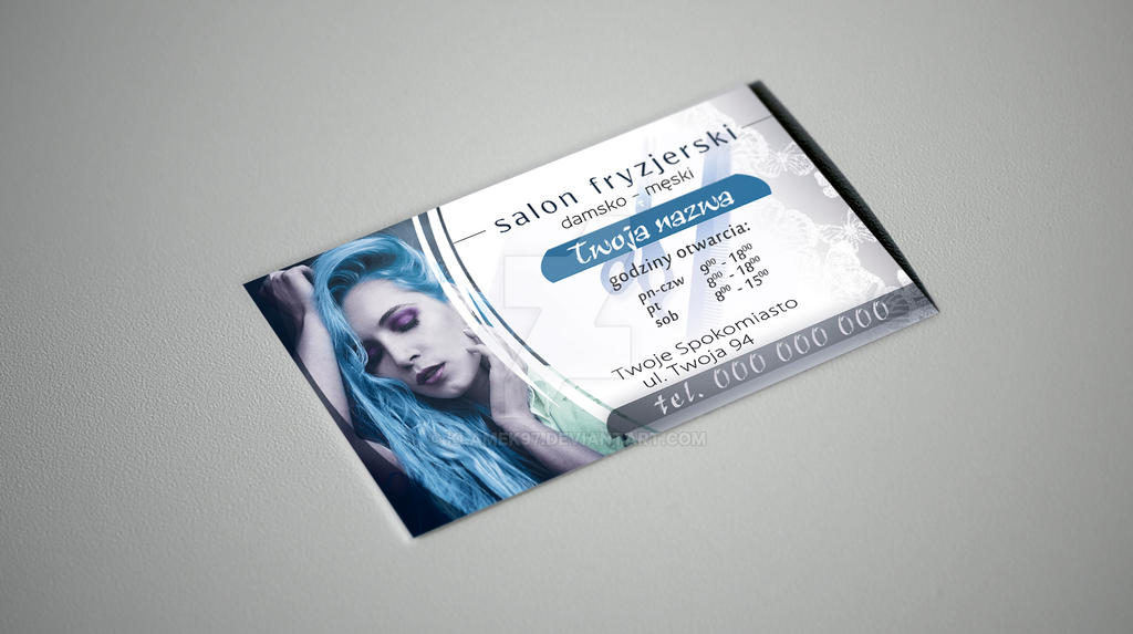 Hair Salon Business Card by Klamek97 on DeviantArt