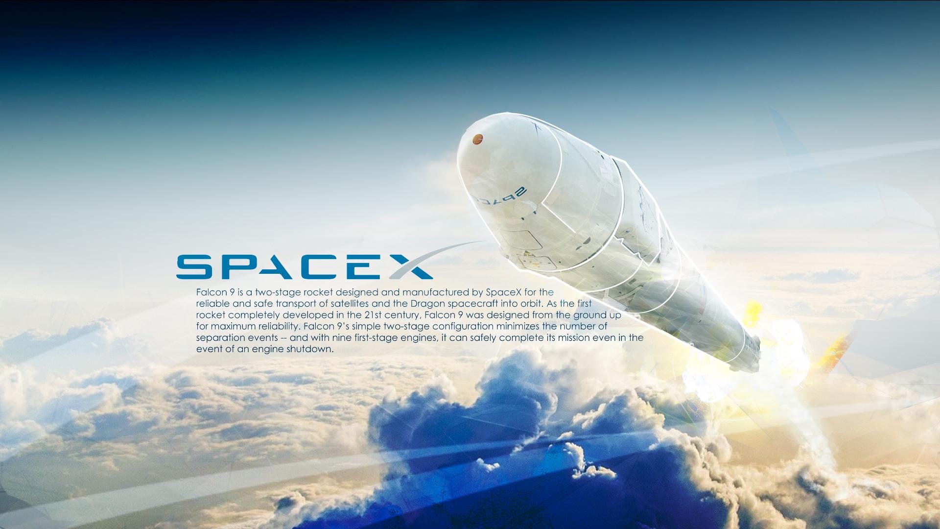 SpaceX Falcon 9 wallpaper by Klamek97 on DeviantArt